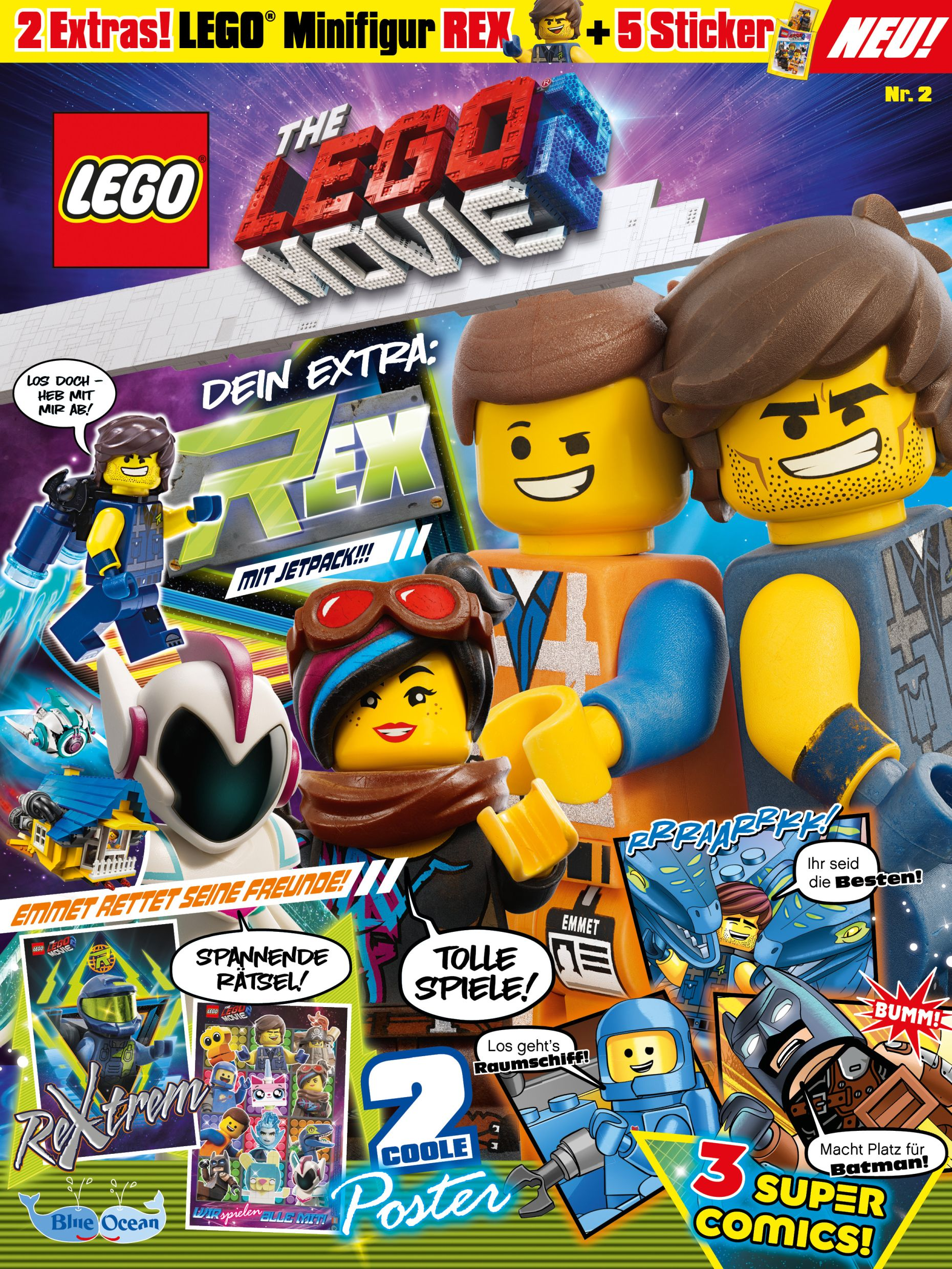 Sticker 134-The Lego Movie 2-Blue Ocean