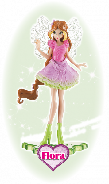 Winx Club Sammelfigur Magic Girl Flora!