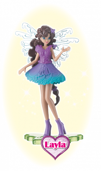 Winx Club Sammelfigur Magic Girl Layla!